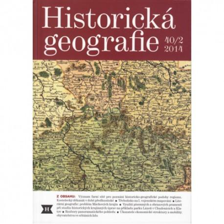 Historická geografie 40/2