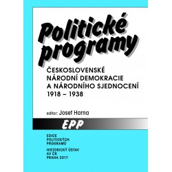 Politické programy československé národní demokracie a národního sjednocení 1918–1938