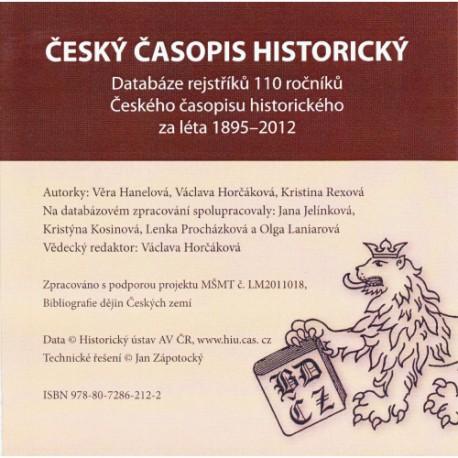 Český časopis historický. Databáze rejstříků 110 ročníků českého časopisu historického za léta 1895–2012 (CD-ROM)
