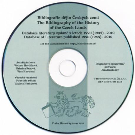Bibliografie dějin Českých zemí. Databáze literatury vydané v letech 1990 (1945) – 2010 (CD-ROM)